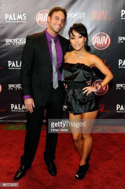 Adult film actor Rocco Reed and adult film actress Asa Akira arrive at the 27th annual Adult Video News Awards Show at the Palms Casino Resort...