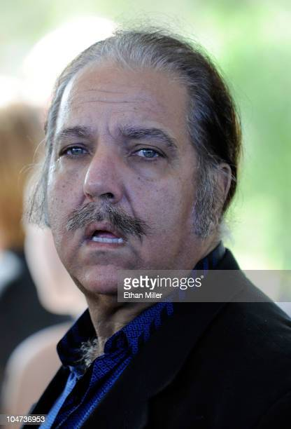 Adult film actor Ron Jeremy attends the funeral for actor Tony Curtis at Palm Mortuary Cemetary October 4 2010 in Henderson Nevada Curtis died on...