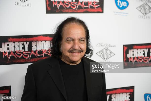 Adult film actor Ron Jeremy attends the Jersey Shore Massacre New York Premiere at AMC Lincoln Square Theater on August 19 2014 in New York City