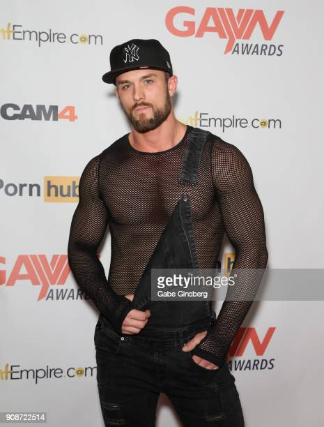 Adult film actor Ryan Rose attends the 2018 GayVN Awards show at The Joint inside the Hard Rock Hotel Casino on January 21 2018 in Las Vegas Nevada