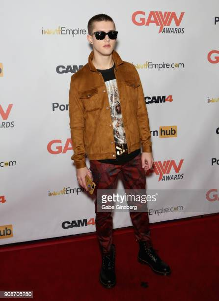Adult film actor Sean Ford attends the 2018 GayVN Awards show at The Joint inside the Hard Rock Hotel Casino on January 21 2018 in Las Vegas Nevada