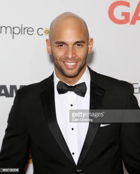 Adult film actor Sean Zevran attends the 2018 GayVN Awards show at The Joint inside the Hard Rock Hotel Casino on January 21 2018 in Las Vegas Nevada