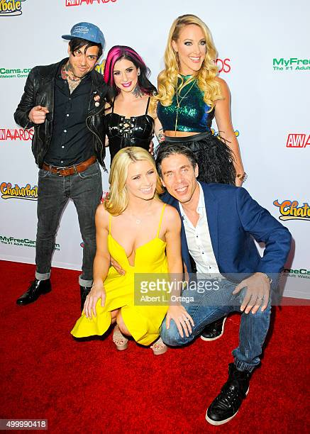 Adult film actor Small Hands adult film actress Joanna Angel comic Kate Quigley adult film actress Anikka Albrite and husband/adult film actor Mick...