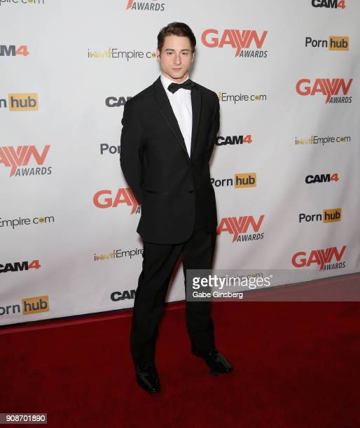 Adult film actor Taylor Reign attends the 2018 GayVN Awards show at The Joint inside the Hard Rock Hotel Casino on January 21 2018 in Las Vegas Nevada