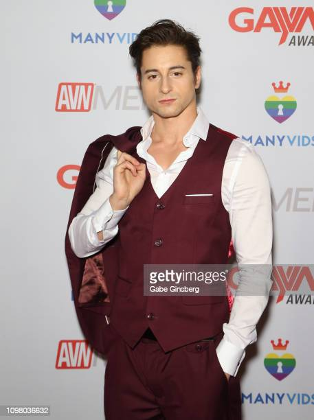Adult film actor Taylor Reign attends the 2019 GayVN Awards show at The Joint inside the Hard Rock Hotel Casino on January 21 2019 in Las Vegas Nevada