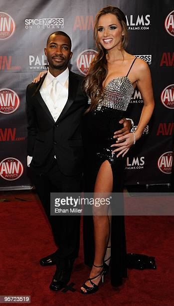 Adult film actor Tee Reel and adult film actress Tori Black arrive at the 27th annual Adult Video News Awards Show at the Palms Casino Resort January...