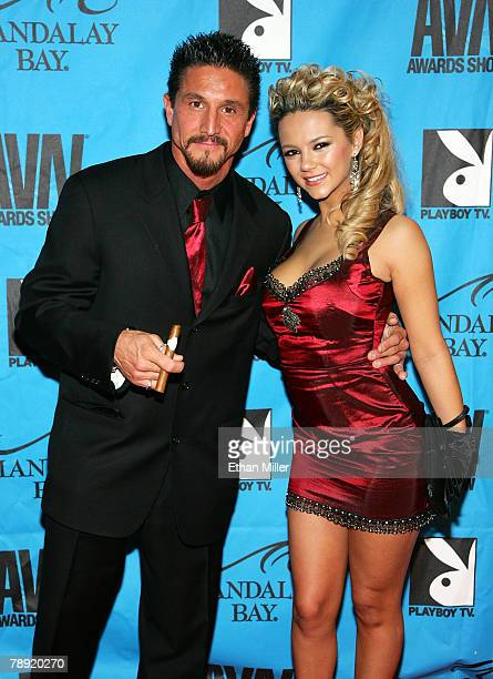 Adult film actor Tommy Gunn and adult film actress Ashlynn Brooke arrive at the 25th annual Adult Video News Awards Show at the Mandalay Bay Events...