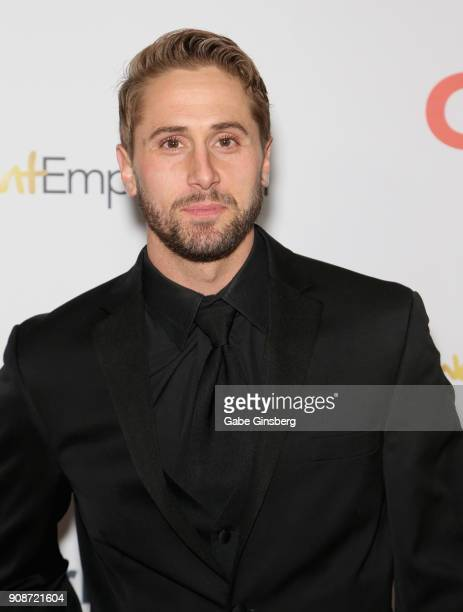 Adult film actor Wesley Woods attends the 2018 GayVN Awards show at The Joint inside the Hard Rock Hotel Casino on January 21 2018 in Las Vegas Nevada