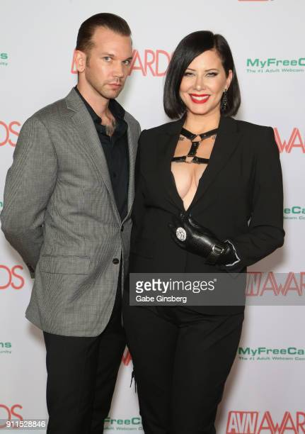 Adult film actor Will Havoc and adult film actress Madeline Marlowe attend the 2018 Adult Video News Awards at the Hard Rock Hotel Casino on January...