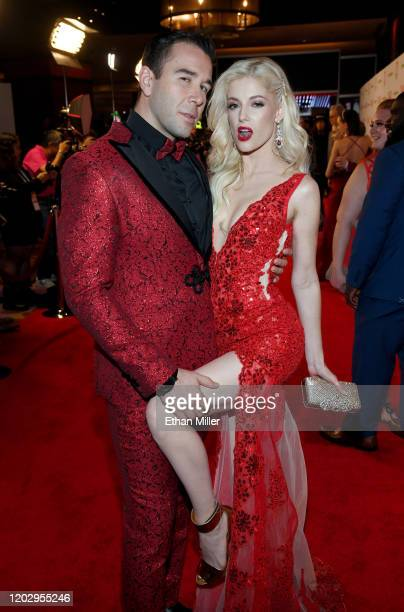 Adult film actor Will Pounder and adult film actress Charlotte Stokely attend the 2020 Adult Video News Awards at The Joint inside the Hard Rock...
