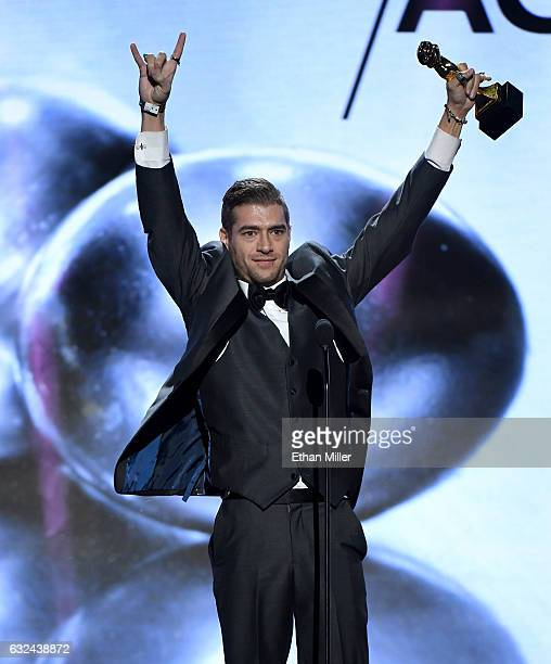 Adult Film Actor Xander Corvus Accepts The Award For Best Actor During The  Adult Video