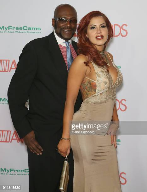 Adult film actor/director Lexington Steele and adult film actress Savana Styles attend the 2018 Adult Video News Awards at the Hard Rock Hotel Casino...