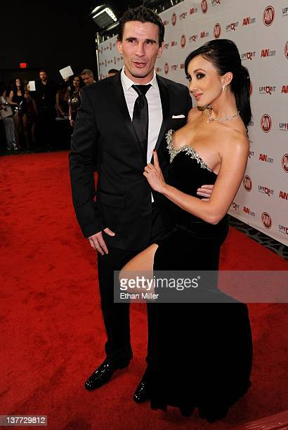 Adult film actor/director Manuel Ferrara and adult film actress Katsuni arrive at the 29th annual Adult Video News Awards Show at the Hard Rock Hotel...