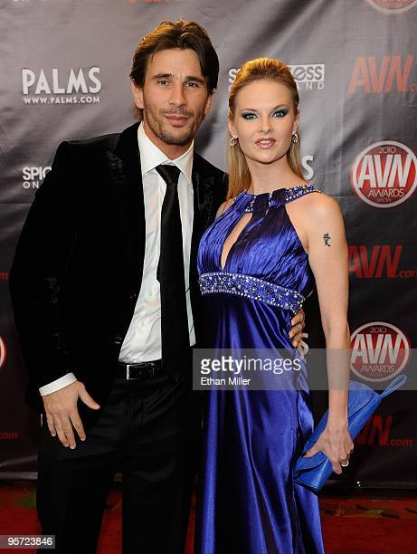 Adult film actor/director Manuel Ferrara and adult film actress Tarra White arrive at the 27th annual Adult Video News Awards Show at the Palms...