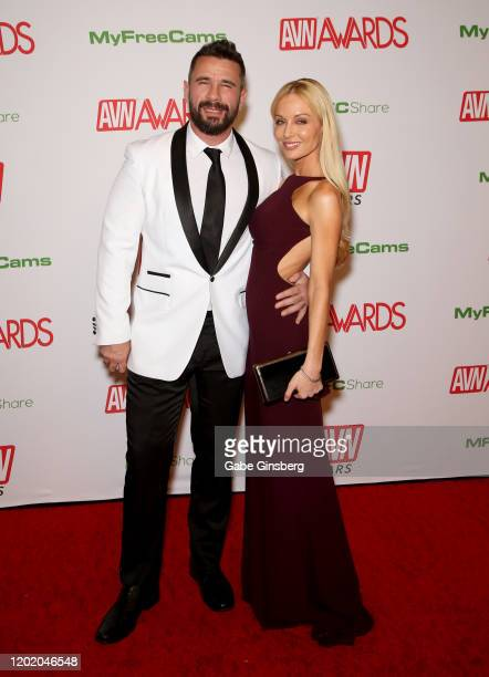 Adult film actor/director Manuel Ferrara and adult film director/actress Kayden Kross attend the 2020 Adult Video News Awards at The Joint inside the...