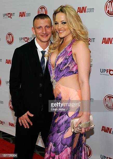 Adult film actor/director Mr Pete and his wife adult film actress Alexis Texas arrive at the 29th annual Adult Video News Awards Show at the Hard...