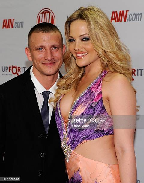 Adult film actor/director Mr. Pete and his wife, adult film actress Alexis Texas, arrive at the 29th annual Adult Video News Awards Show at the Hard...