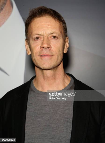 Adult film actor/director Rocco Siffredi poses in the Satisfyer booth during the 2018 AVN Adult Expo at the Hard Rock Hotel Casino on January 24 2018...