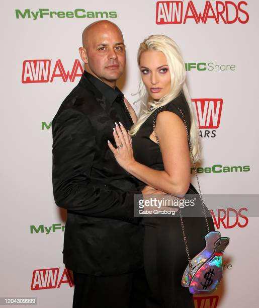 Adult film actor/producer Johnny Cartel and adult film actress Macy Cartel attend the 2020 Adult Video News Awards at The Joint inside the Hard Rock...
