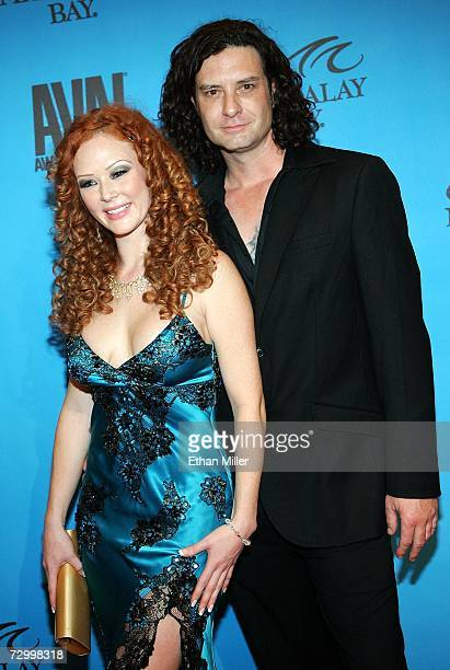 Adult film actors Audrey Hollander and Otto Bauer arrive at the 24th annual Adult Video News Awards Show at the Mandalay Bay Events Center January 13...