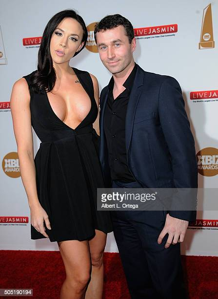 Adult film actors Chanel Preston and James Deen arrive for the 2016 XBIZ Awards held at JW Marriott Los Angeles at LA LIVE on January 15 2016 in Los...