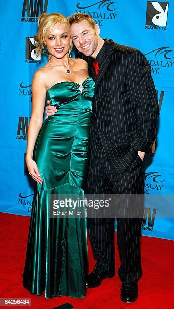 Adult film actors Kayden Kross and Erik Everhard arrive at the 26th annual Adult Video News Awards Show at the Mandalay Bay Events Center January 10,...