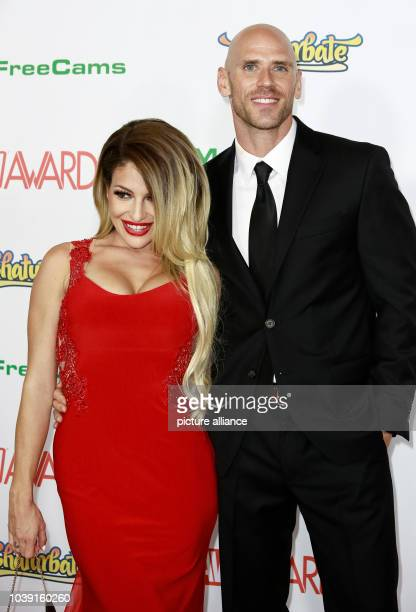 Adult film actors Kissa Sins and Johnny Sins attend the Adult Video News Awards AVN Awards at Hard Rock Hotel Casino in Las Vegas Nevada USA on 21...