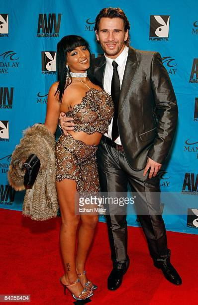 Adult film actors Loona Luxx and Manuel Ferrara arrive at the 26th annual Adult Video News Awards Show at the Mandalay Bay Events Center January 10...