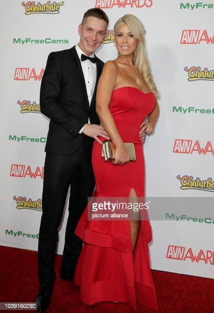 Adult film actors Markus Dupree and Bridgette B attend the Adult Video News Awards AVN Awards at Hard Rock Hotel Casino in Las Vegas Nevada USA on 21...