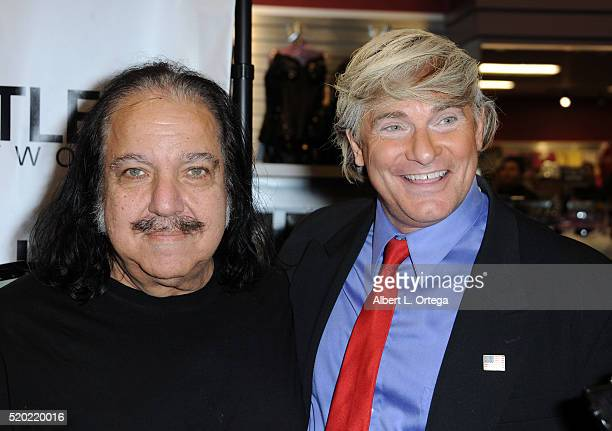 Adult film actors Ron Jeremy and Evan Stone at the Hustler Hollywood New Store Opening held at Hustler Hollywood on April 9 2016 in Los Angeles...