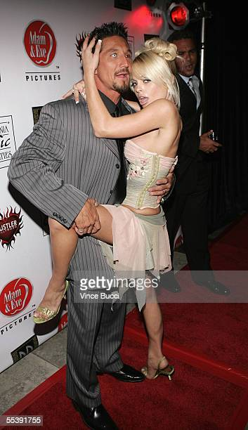 Adult film actors Tommy Gunn and Jesse Jane attend the Digital Playground Adam and Eve production of the XXX rated film Pirates on September 12 2005...