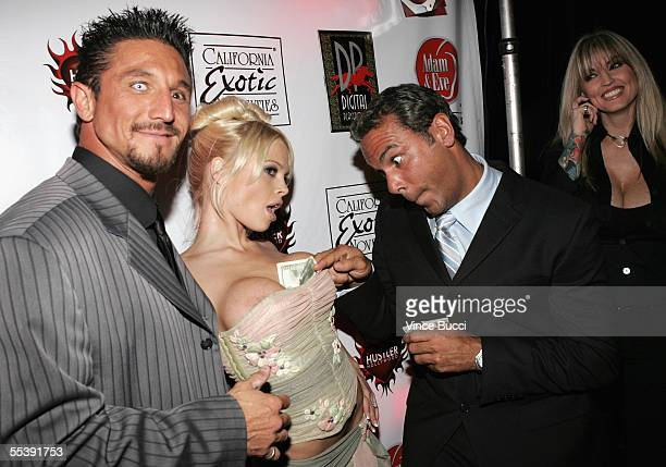 Adult film actors Tommy Gunn Jesse Jane and Dale DaBone attend the Digital Playground Adam and Eve production of the XXX rated film Pirates on...