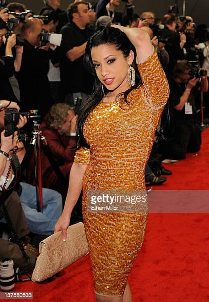 Adult film actress Abella Anderson arrives at the 29th annual Adult Video News Awards Show at the Hard Rock Hotel Casino January 21 2012 in Las Vegas...