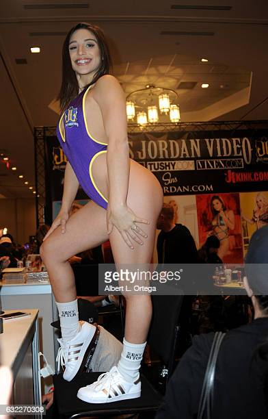 Adult film actress Abella Danger attends the 2017 AVN Adult Entertainment Expo at the Hard Rock Hotel & Casino on January 20, 2017 in Las Vegas,...