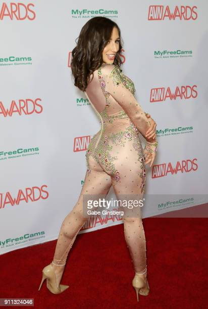 Adult film actress Abella Danger attends the 2018 Adult Video News Awards at the Hard Rock Hotel Casino on January 27 2018 in Las Vegas Nevada
