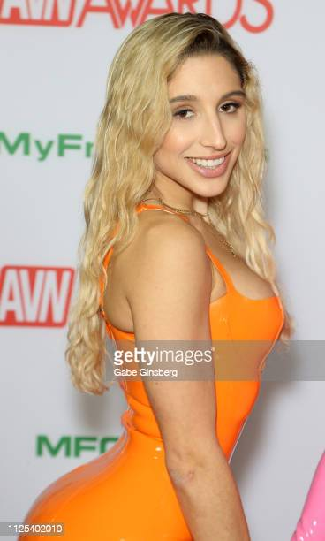 Adult film actress Abella Danger attends the 2019 Adult Video News Awards at The Joint inside the Hard Rock Hotel Casino on January 26 2019 in Las...
