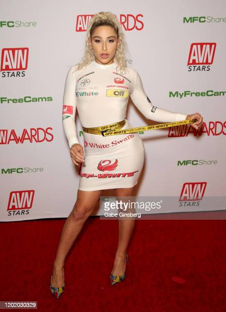 Adult film actress Abella Danger attends the 2020 Adult Video News Awards at The Joint inside the Hard Rock Hotel & Casino on January 25, 2020 in Las...