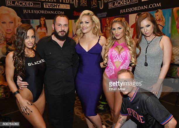 Adult film actress Abigail Mac, adult film producer/director Greg Lansky, adult film actresses Alexis Texas and August Ames, adult film...