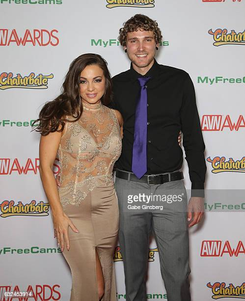 Adult film actress Abigail Mac and Zachary Kurtz attend the 2017 Adult Video News Awards at the Hard Rock Hotel Casino on January 21 2017 in Las...