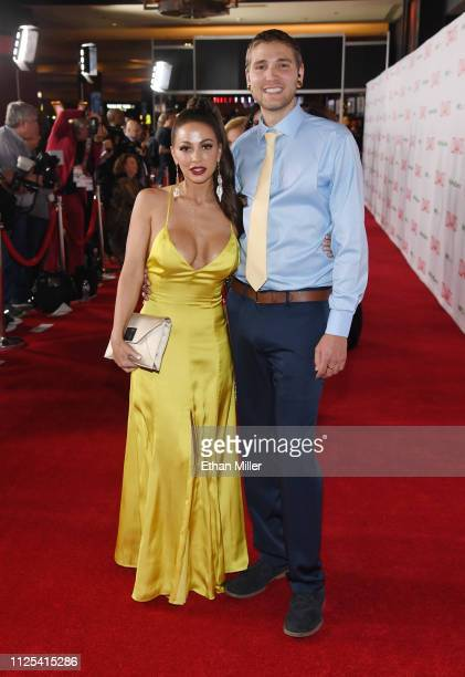 Adult film actress Abigail Mac and Zachary Kurtz attend the 2019 Adult Video News Awards at The Joint inside the Hard Rock Hotel Casino on January 26...
