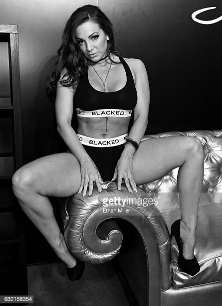 Adult film actress Abigail Mac appears at Greg Lansky's Blacked Tushy and Vixen adult studios booth at the 2017 AVN Adult Entertainment Expo at the...