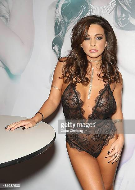 Adult film actress Abigail Mac attends the 2015 AVN Adult Entertainment Expo at the Hard Rock Hotel Casino on January 21 2015 in Las Vegas Nevada