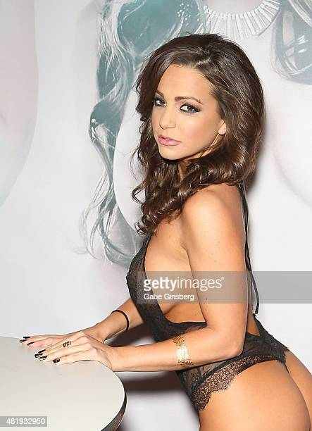 Adult film actress Abigail Mac attends the 2015 AVN Adult Entertainment Expo at the Hard Rock Hotel & Casino on January 21, 2015 in Las Vegas, Nevada.