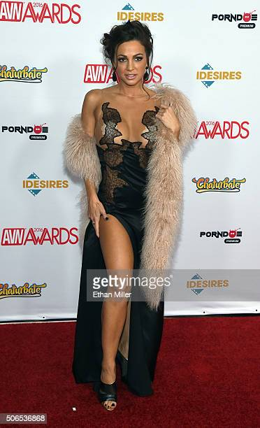 Adult film actress Abigail Mac attends the 2016 Adult Video News Awards at the Hard Rock Hotel Casino on January 23 2016 in Las Vegas Nevada