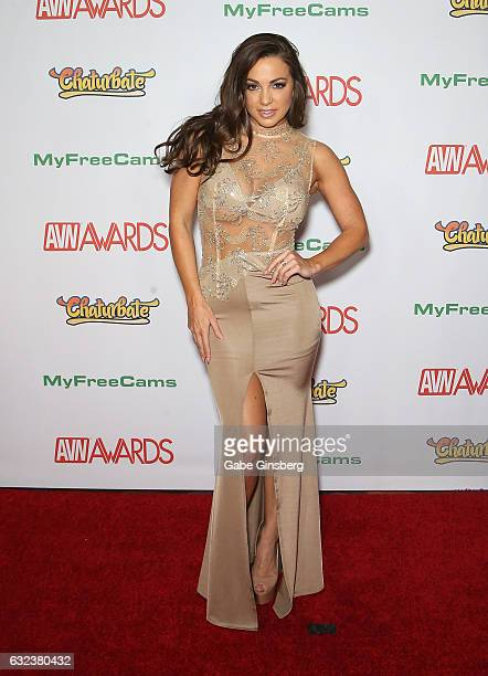 Adult film actress Abigail Mac attends the 2017 Adult Video News Awards at the Hard Rock Hotel Casino on January 21 2017 in Las Vegas Nevada