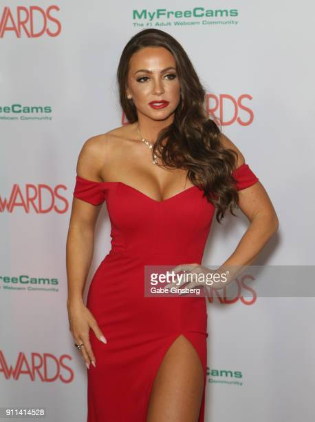Adult film actress Abigail Mac attends the 2018 Adult Video News Awards at the Hard Rock Hotel Casino on January 27 2018 in Las Vegas Nevada