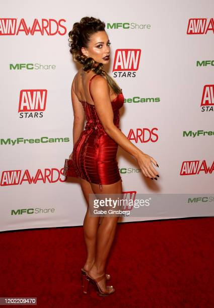 Adult film actress Abigail Mac attends the 2020 Adult Video News Awards at The Joint inside the Hard Rock Hotel Casino on January 25 2020 in Las...