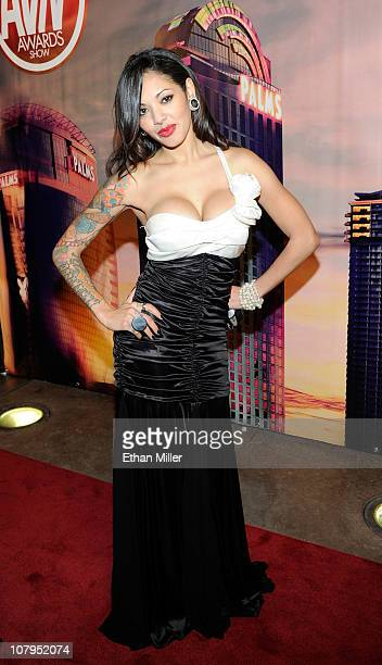 Adult film actress Adrenalynn arrives at the 28th annual Adult Video News Awards Show at the Palms Casino Resort January 8 2011 in Las Vegas Nevada