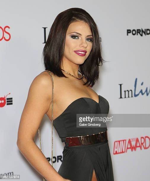 Adult film actress Adriana Chechik arrives at the 2015 Adult Video News Awards at the Hard Rock Hotel Casino on January 24 2015 in Las Vegas Nevada