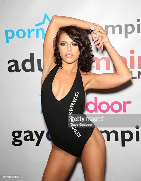 Adult film actress Adriana Chechik attends the 2015 AVN Adult Entertainment Expo at the Hard Rock Hotel Casino on January 23 2015 in Las Vegas Nevada